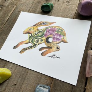 Limited Edition Cosmic Bunny Print