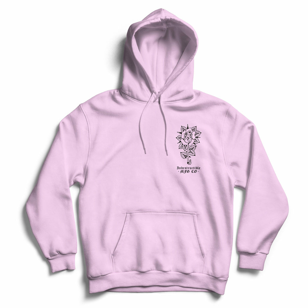 Scorpion & Rose Hoodie - Pink - Indestructible MFG
