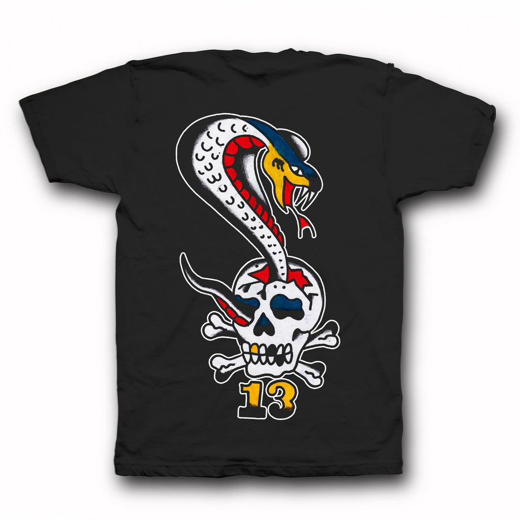 Piew Choquette 'Cobra Skull 13' Tee - Indestructible MFG