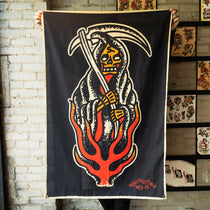 Death In Flames Flag