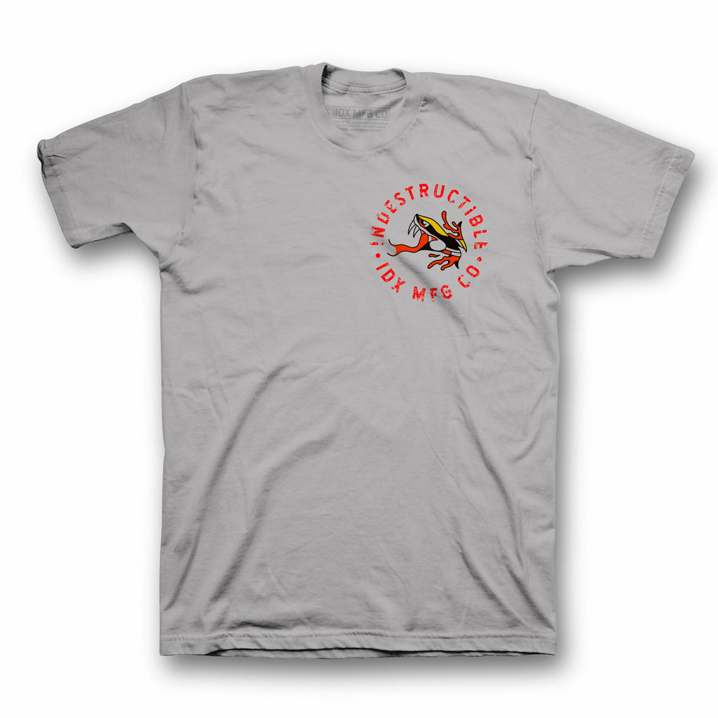 Snake Tee - Grey - Indestructible MFG