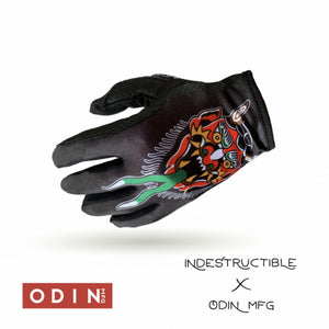 Odin Mfg X Indestructible Diablo Street MX Gloves - Indestructible MFG