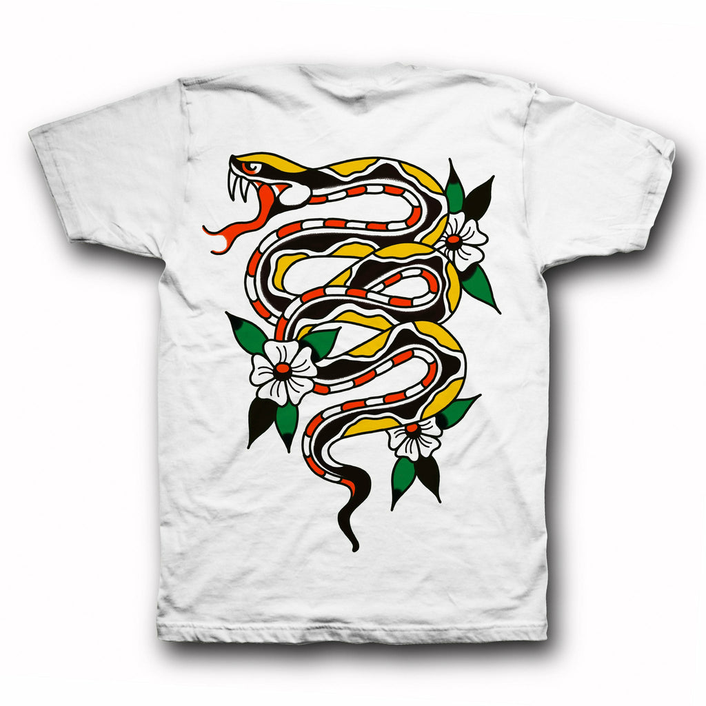Snake Tee - White - Indestructible MFG