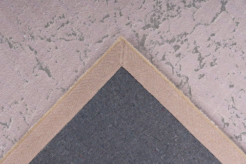 Glamour-Teppich Madras 237 Taupe / Silber Makro