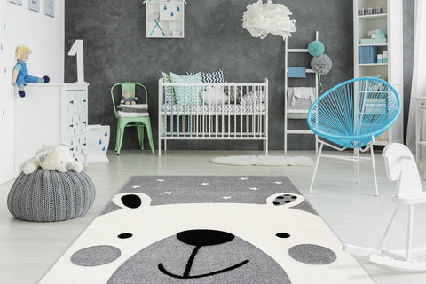 Kinderteppich Lucky Child 360 Silber Ambiente