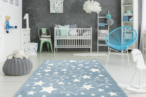 Kinderteppich Lucky Child 366 Blau Ambiente