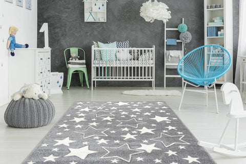 Kinderteppich Lucky Child 366 Silber Ambiente