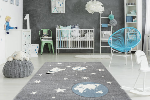 Kinderteppich Lucky Child 367 Silber Ambiente