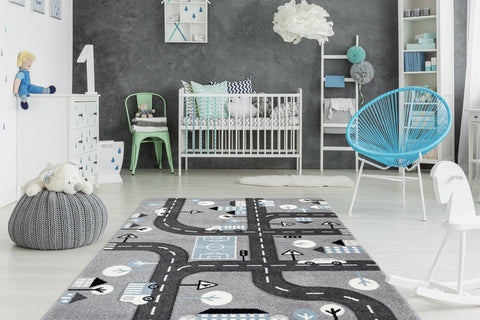 Kinderteppich Lucky Child 368 Silber Ambiente