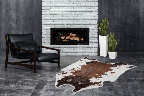 Kunstfell-Teppich Lasso 238 Cow Brown Ambiente