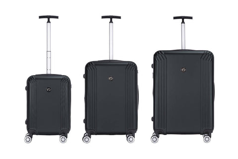 Reisekofferset Koffer Boston 337 3er-Set Schwarz Ambiente