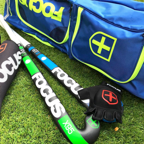 Focus Hockey bags, hockey gloves and hockey pads and shin guards. Lift your game with Focus Hockey Australia.