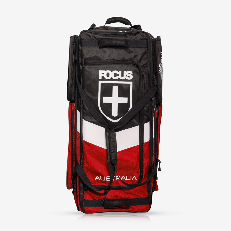 Focus Large Standup Wheelie Bag - Red