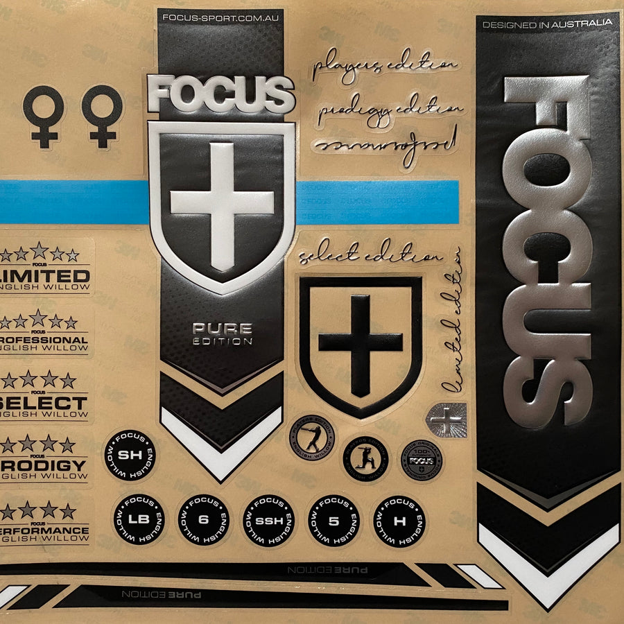 Focus Bat Stickers