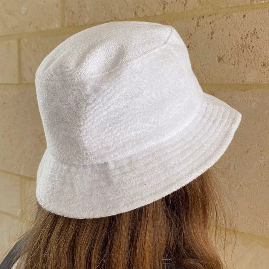 Focus Terry Towel Bucket Hat