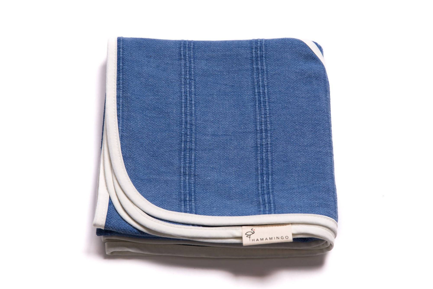 Blue Jean Baby Swaddle Blanket and Towel in Denim
