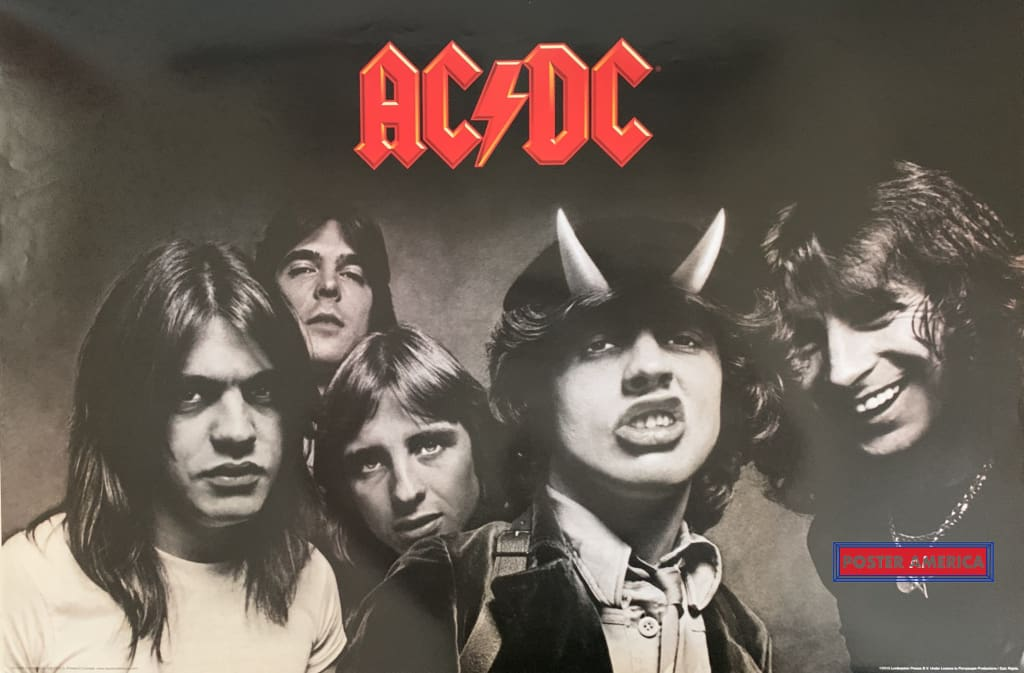 Ac/dc Horizontal Band Shot Poster 24 X 36