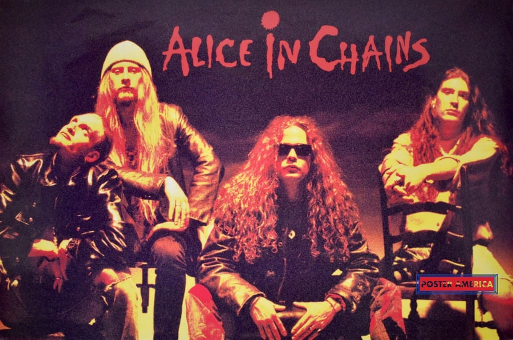 Alice In Chains Rare Vintage 1992 Band Shot Poster 24 X 36 Vintage Poster