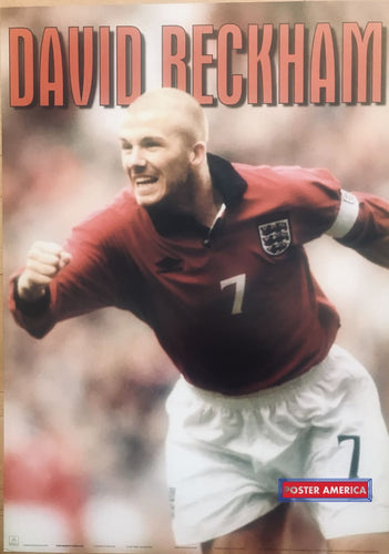 David Beckham Action Soccer Uk Import Poster 24 X 34