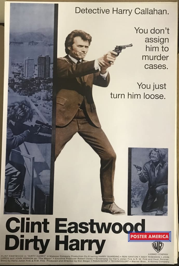 Dirty Harry Clint Eastwood Rare One Sheet Poster 24 X 36