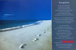 Footprints Tropical Setting Vintage U.k. Import Poster 2005 24 X 36 One Night A Man Had Dream Quote