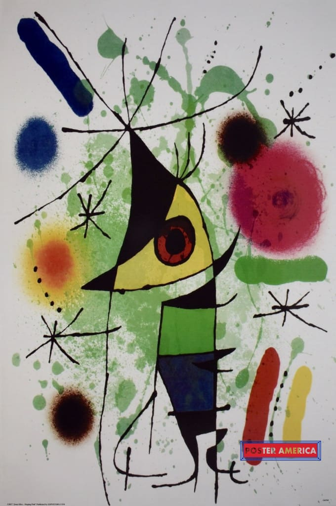 Joan Miro Singing Fish Art Poster 24 X 36
