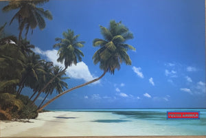 Maldive Morning Tropical Setting Poster 2006 24 X 36