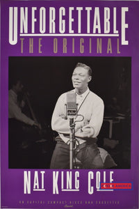Nat King Cole Unforgettable Album Original Promo Vintage 1992 Poster 20X30 Vintage Poster