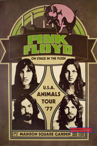 Pink Floyd U.s.a. Animals Tour 1977 Promo Reproduction Poster 24 X 36