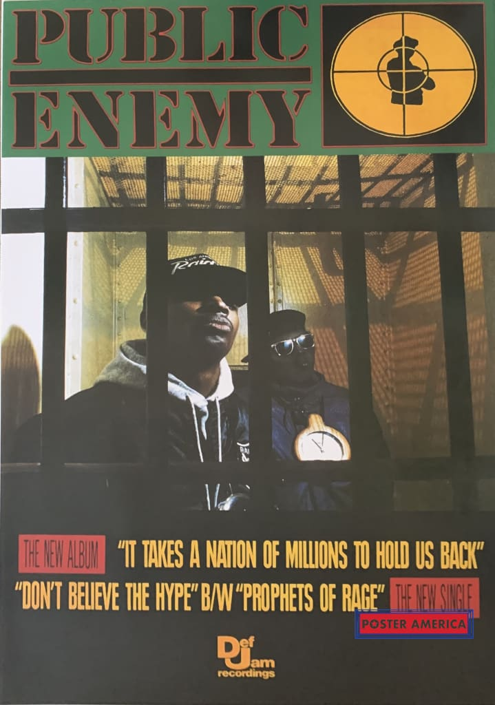 Public Enemy Jail Cell Poster 24 X 34