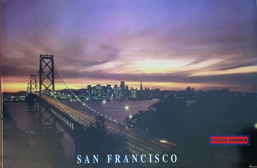 San Francisco Sunset Poster 24 X 36