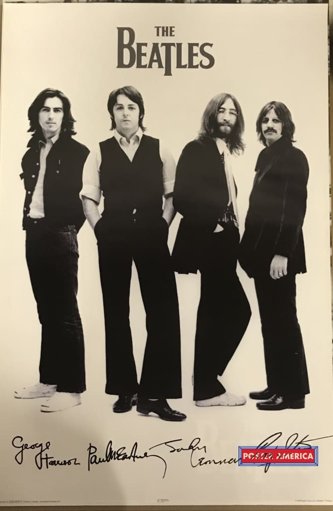 The Beatles Band Shot Signatures Poster 24 X 36