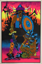 Load image into Gallery viewer, The Conqueror Original 1970S Blacklight Poster 23 X 35