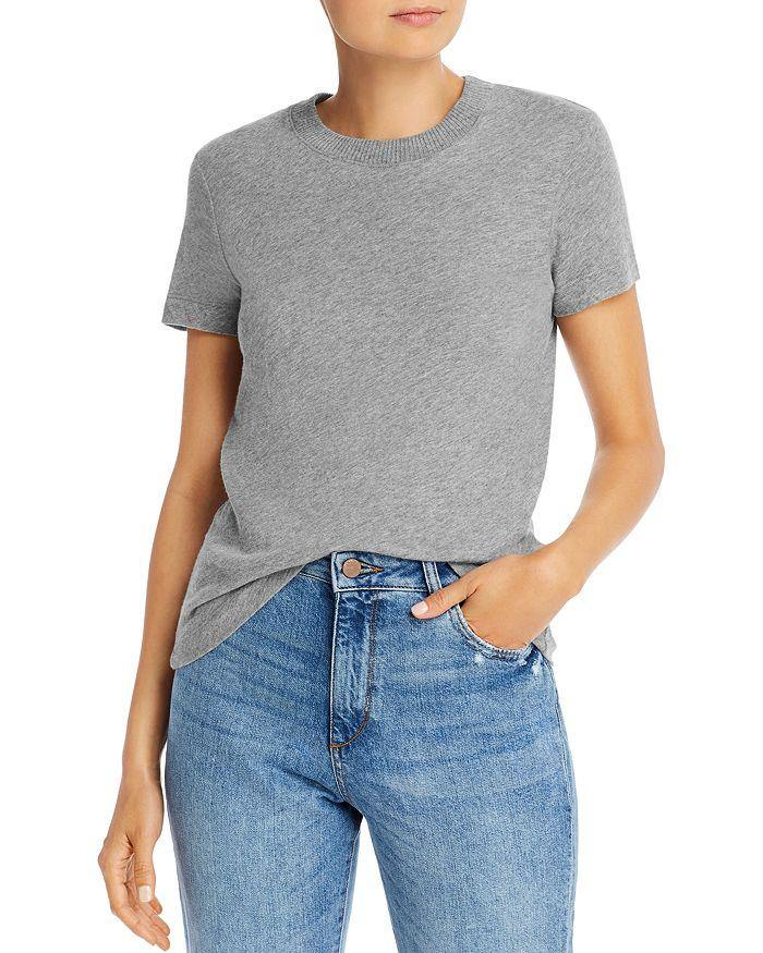 The 'Perfect Cashmere Tee' - Grey - Wheat Boutique