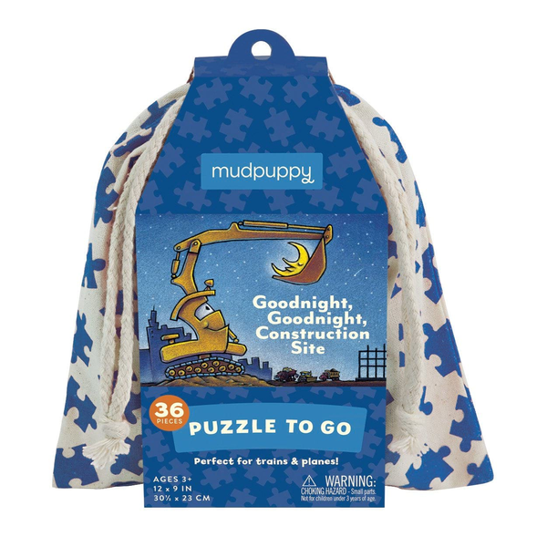 Mudpuppy Goodnight Construction Site to Go Puzzle - Wheat Boutique