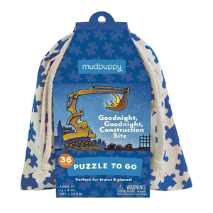 Mudpuppy Goodnight Construction Site to Go Puzzle