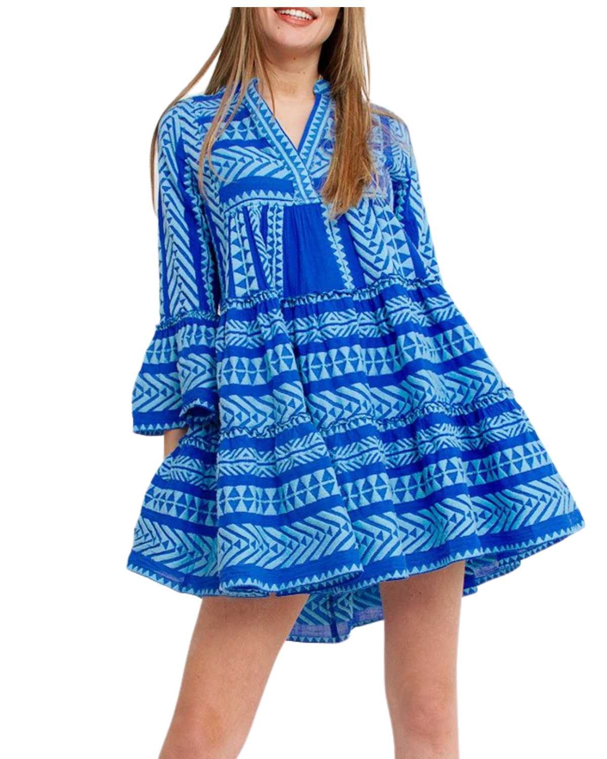 Ella Dress - Neon Blue/Blue