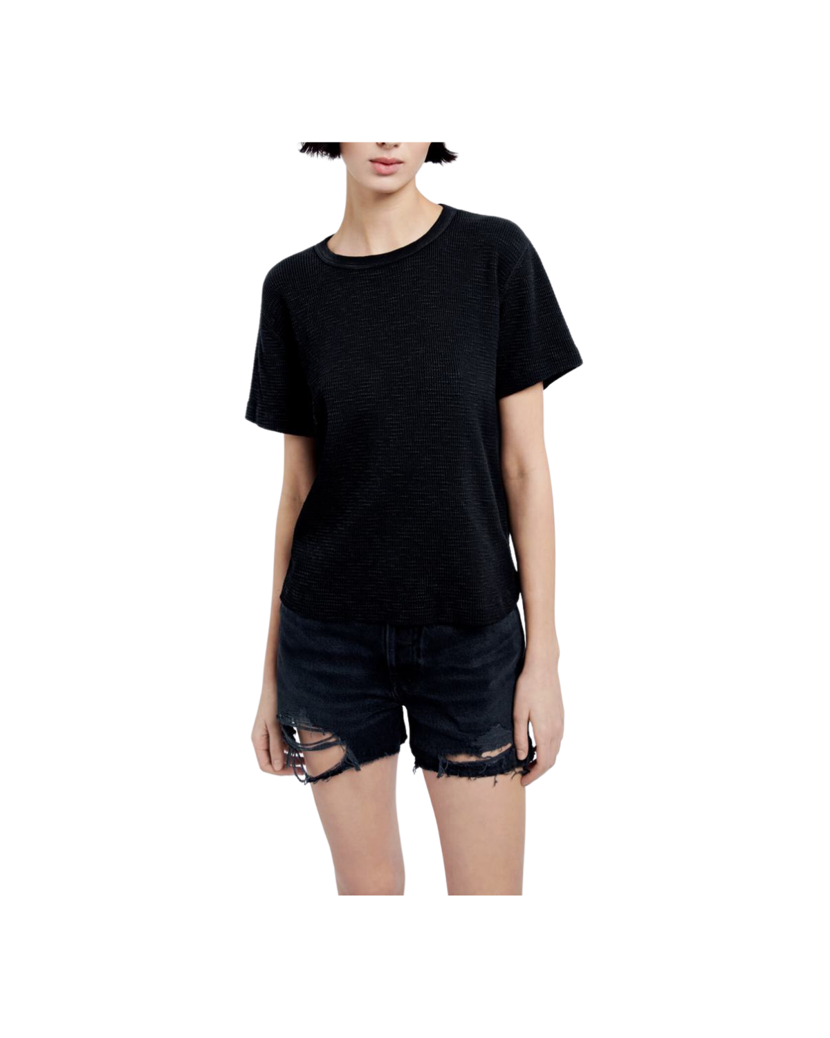 Loose Thermal Tee - Black