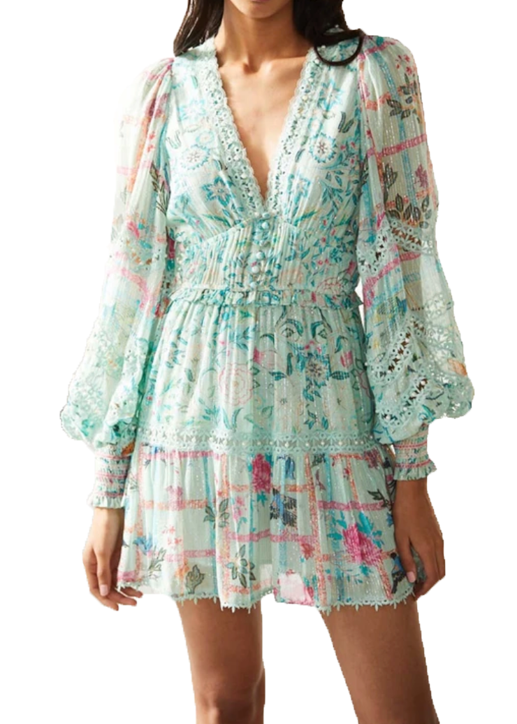 The 'Cosmic' Mini Dress - Mint - Wheat Boutique