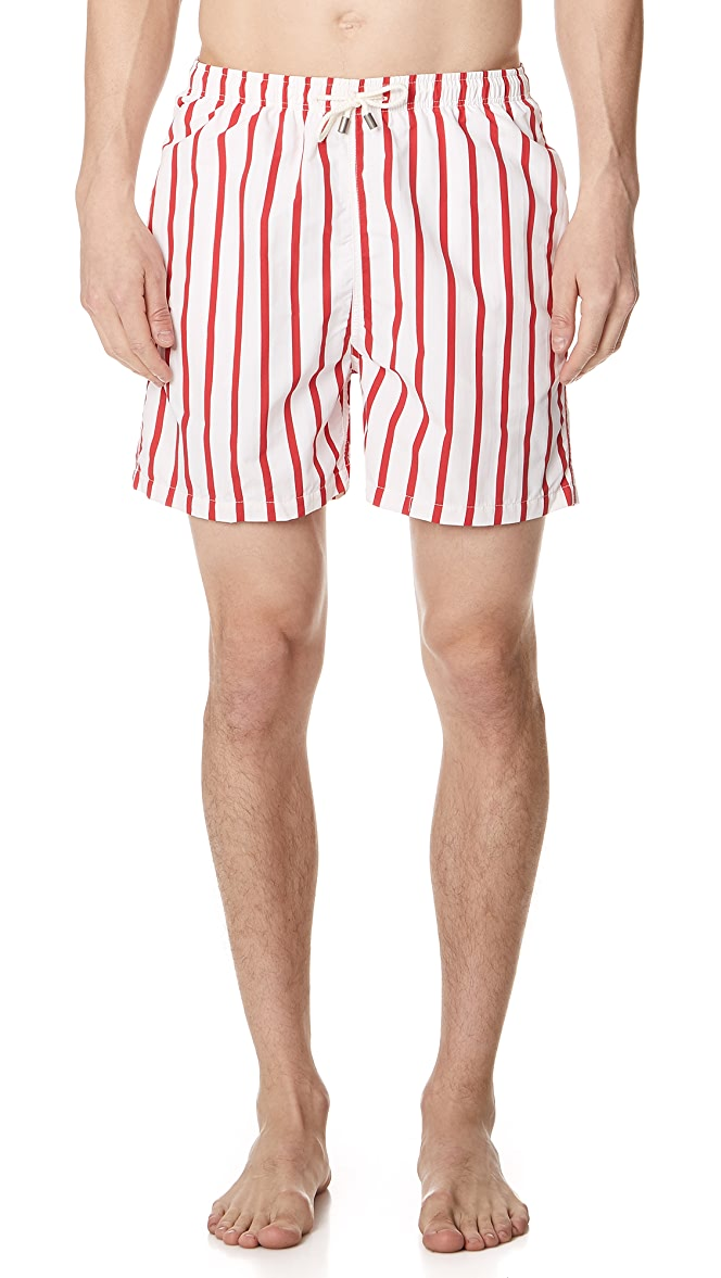 Solid and Striped Venice Stripe Red and Cream