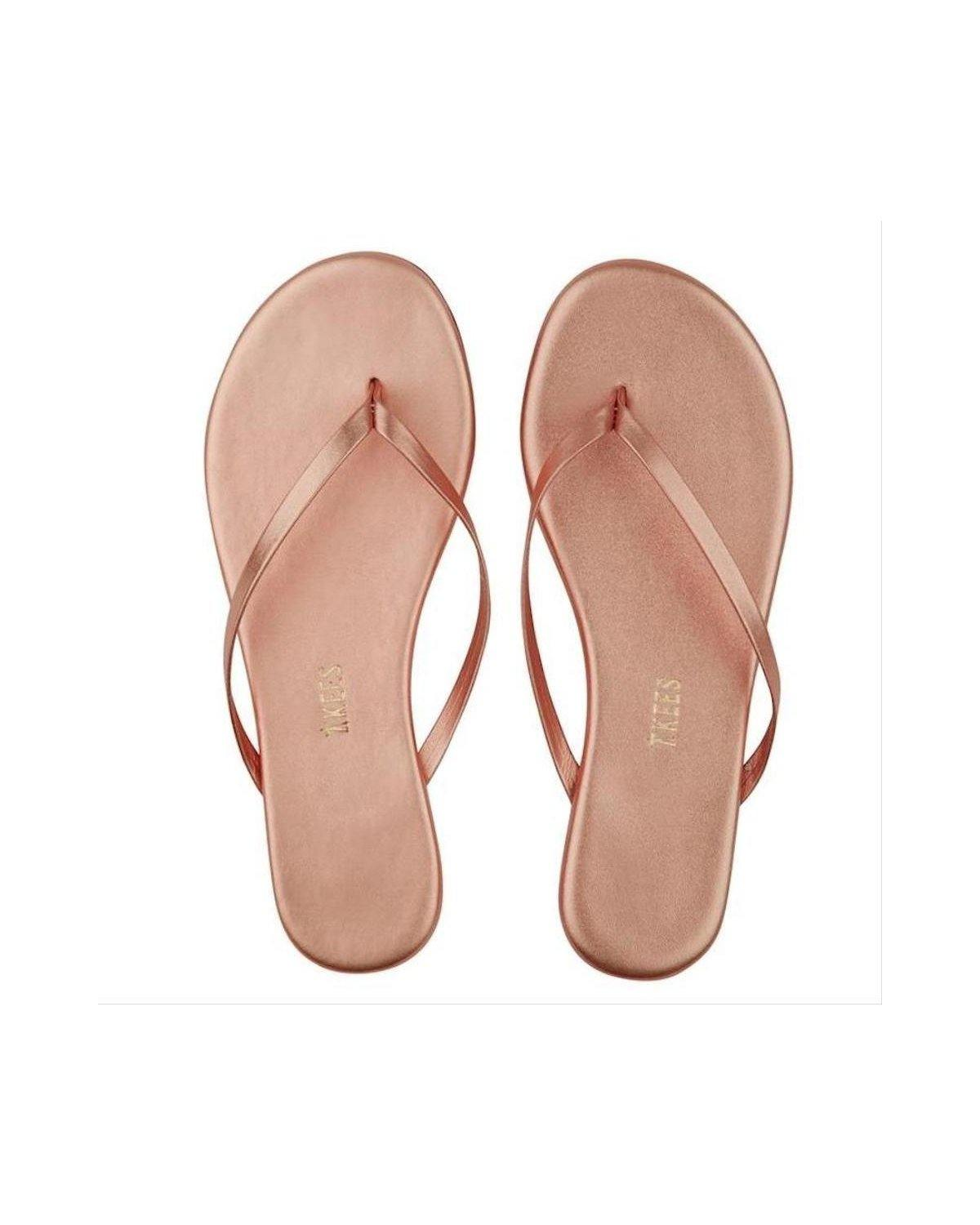 Metallic Rose Gold Flip Flop - Wheat Boutique