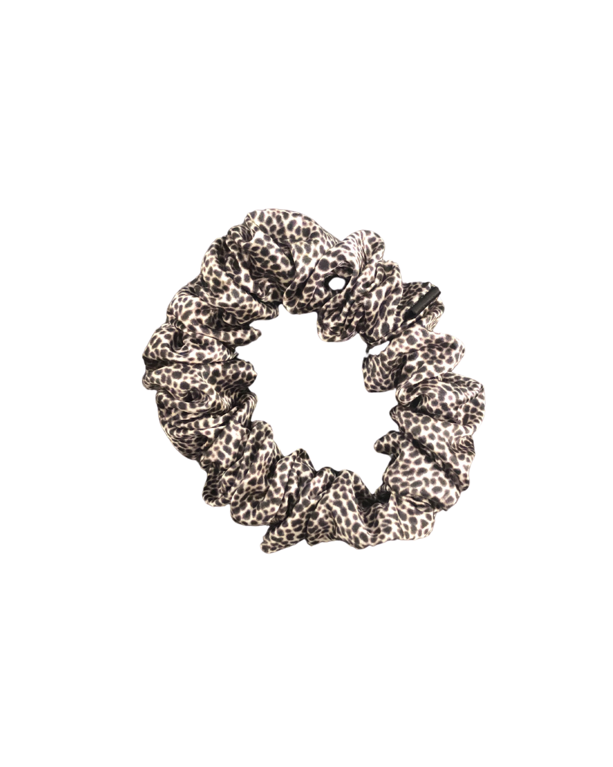 Large Silk Scrunchie - Snow Leopard