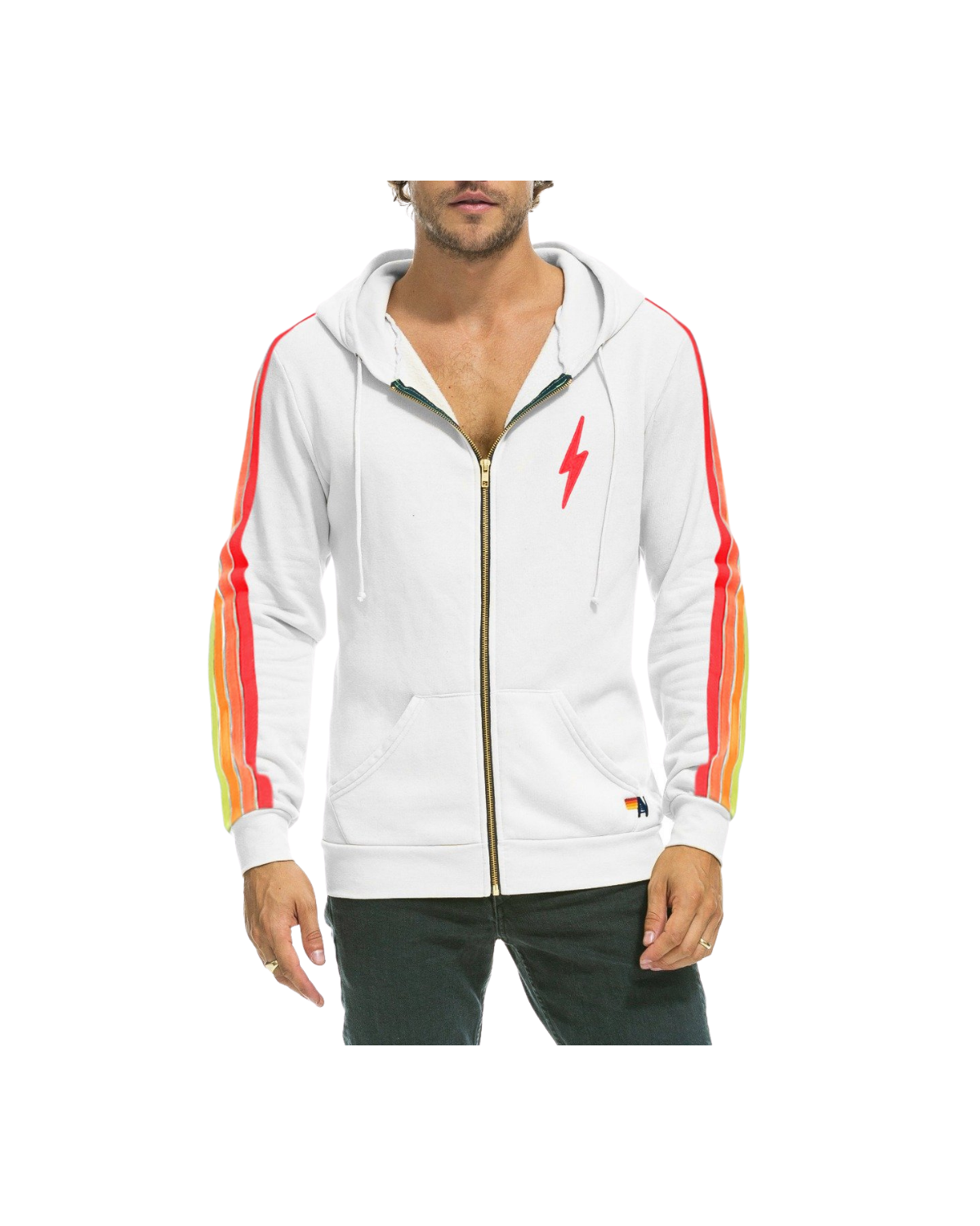 Bolt Neon Sweatshirt - White/Neon
