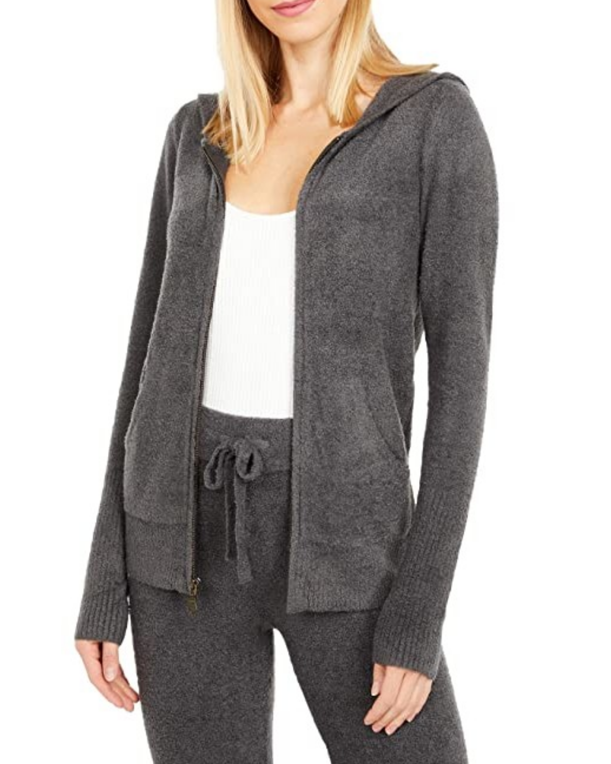 CozyChic Lite Women's Zip Up Hoodie - Carbon