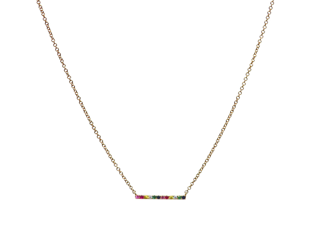 Rainbow Bar Necklace - Wheat Boutique