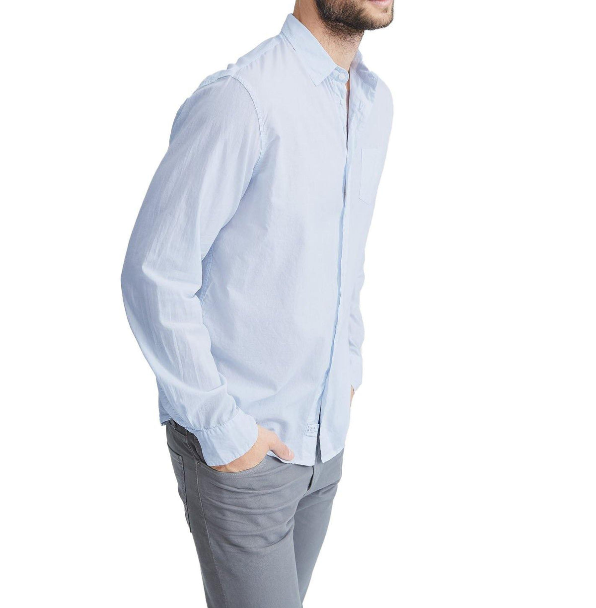 'Luke' Button Down - Shirting Blue - Wheat Boutique