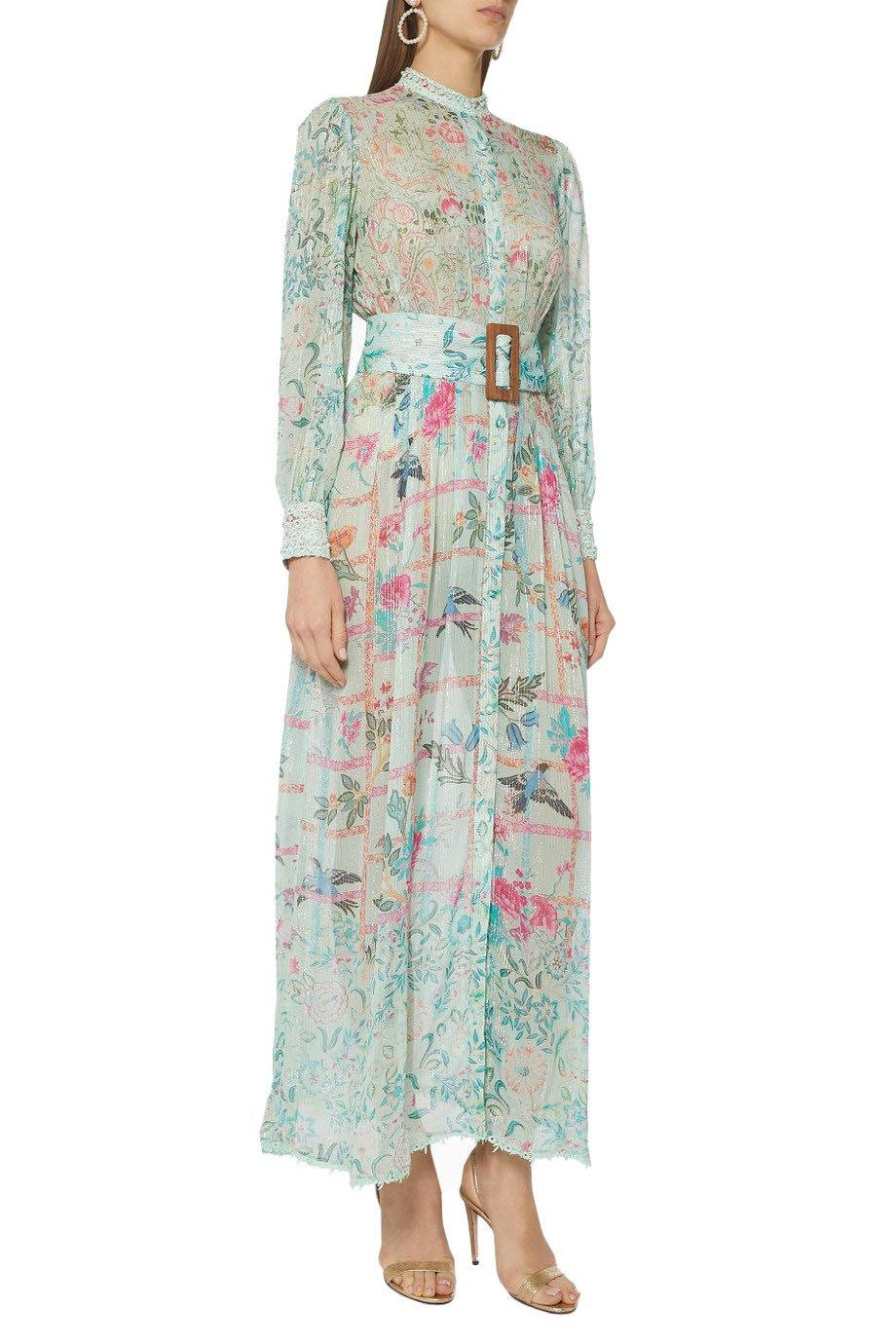 The 'Cosmic' Long Dress - Mint - Wheat Boutique