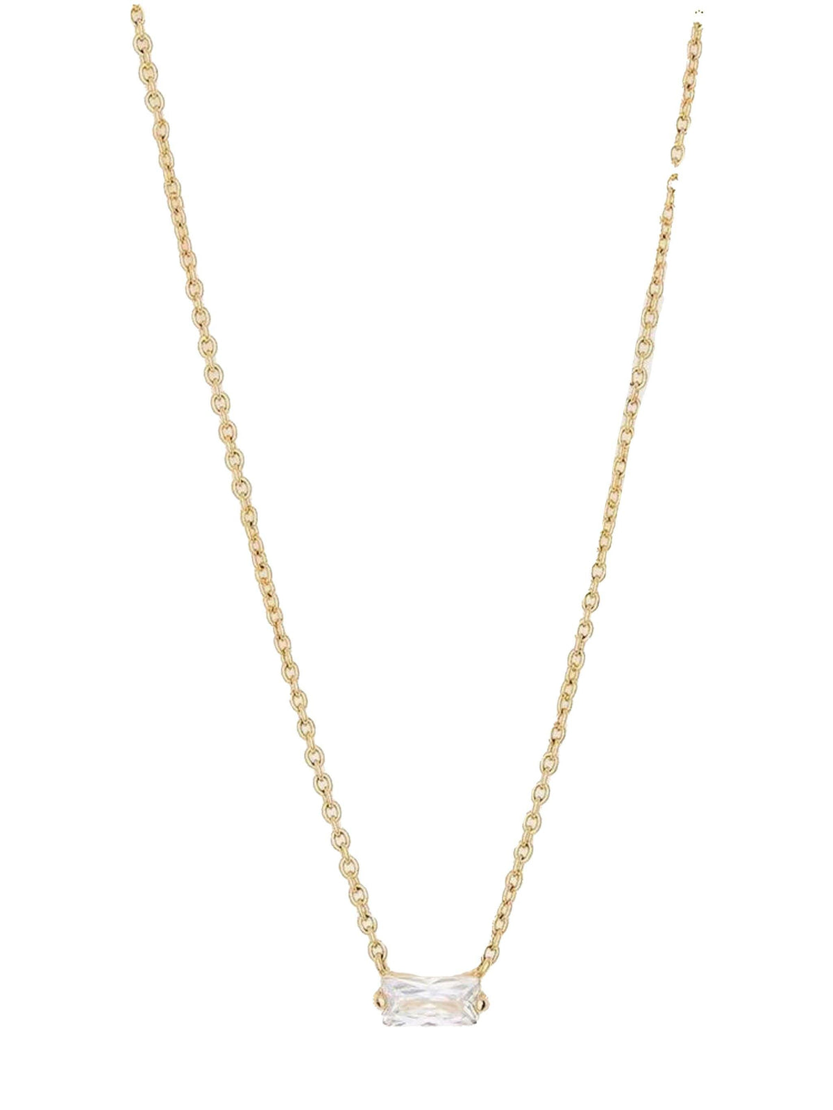 Amara Solitaire Necklace - Wheat Boutique
