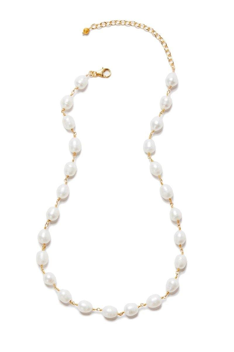 Freshwater Pearl Necklace - Wheat Boutique