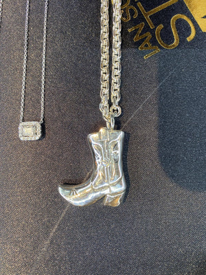 Silver Boot Necklace